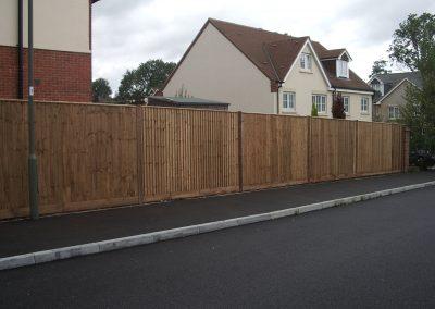 Closeboard fence