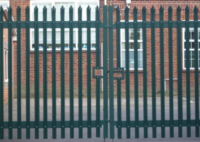 Green Steel Palisade Gates